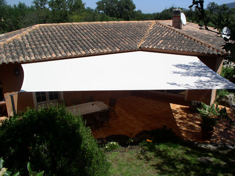 velum toile solaire jardin terrasse