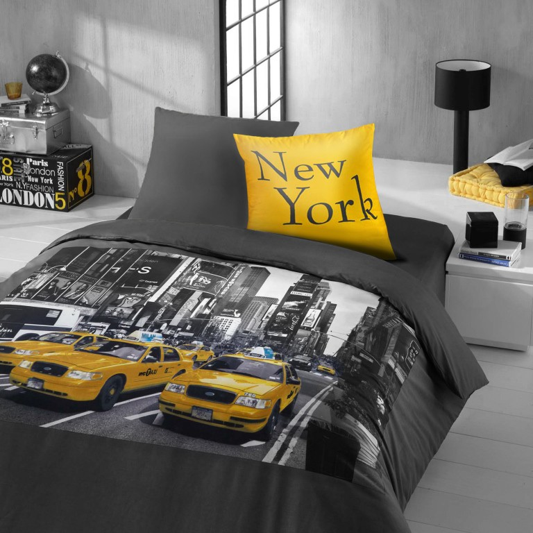 Theme pour chambre ado new york d co chambre ado for Chambre design new york