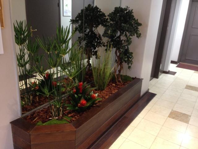 bac plantes artificielle avec un ficus panda