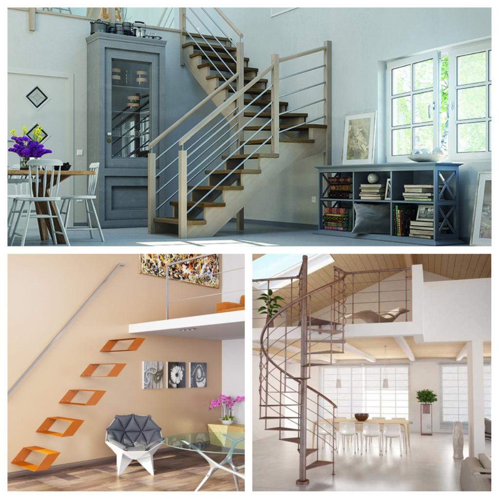 escalier d'itérieur, suspendu, et en colimaçon conçus par l'Echelle Européenne