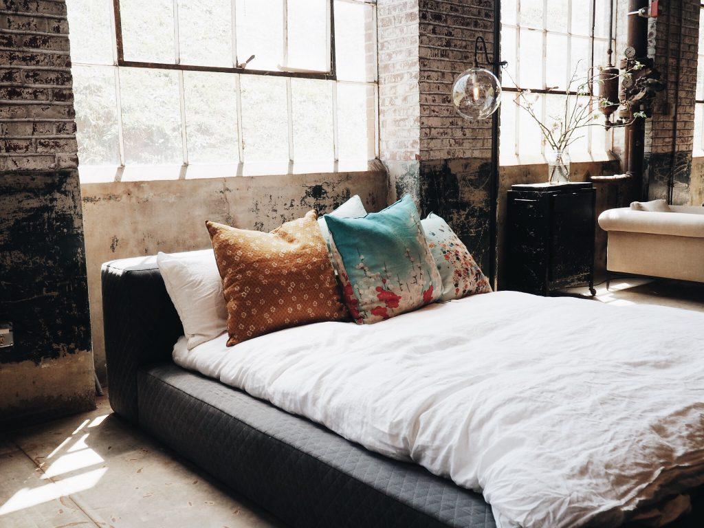 chambre au style industriel
