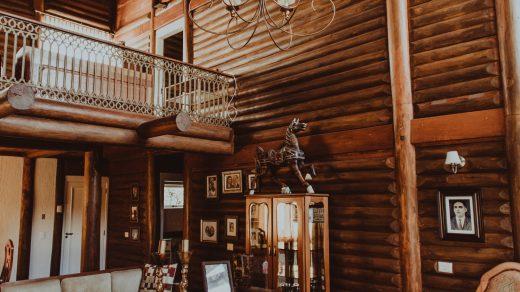intérieur en bois type chalet